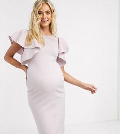 Эксклюзивное платье миди ASOS DESIGN Maternity-Розовый