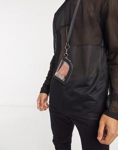 Миниатюрный кошелексо съемным ремешком на шею ASOS DESIGN-Очистить