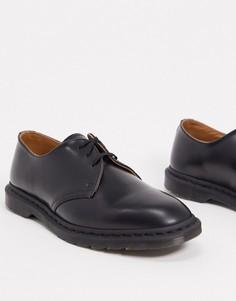 Черные ботинки с 3 парами люверсов Dr Martens archie ii-Черный