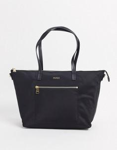 Черная сумка-тоут с логотипомHugo Boss-Черный