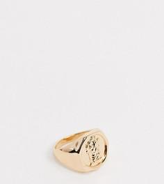 Золотистое кольцо-печатка Reclaimed Vintage inspired-Серебряный