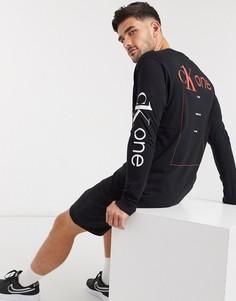 Лонгслив классического кроя Calvin Klein Jeans-Черный
