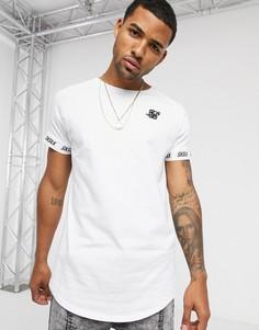 Белая футболка с короткими рукавами реглан Siksilk-Белый