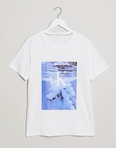 Белая футболка с фотопринтом Calvin Klein Jeans-Белый