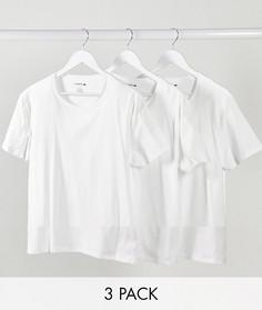 Набор из 3 белых футболок Lacoste-Белый