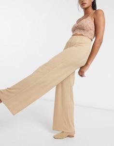 Широкие брюки верблюжьего цвета Vila-Светло-коричневый