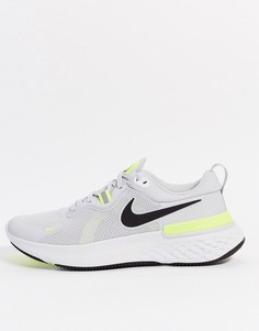 Серые кроссовки Nike Running React Miler-Серый