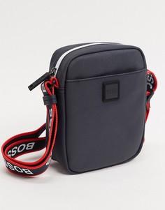 Кожаная сумка для авиапутешествий BOSS hyper-Темно-синий