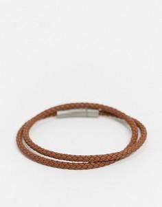 Кожаный браслет BOSS-Коричневый