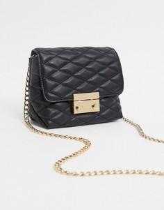 Черная стеганая сумка через плечо Lipsy-Черный