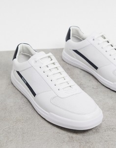 Белые кроссовки с логотипом BOSS Cosmopool Tenn-Белый