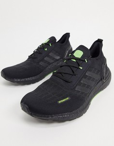 Кроссовки с черной и ярко-зеленой отделкой adidas Ultraboost S.RDY-Черный