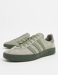 Кроссовки цвета хаки adidas Originals Broomfield-Черный