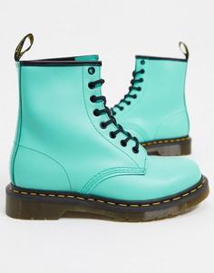 Ботинки с 8 парами люверсов Dr Martens 1460-Зеленый