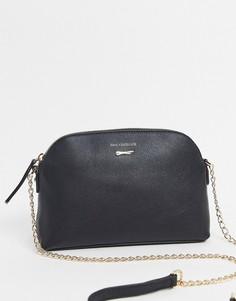 Черная сумка через плечо с ремешком-цепочкойPaul Costelloe-Черный
