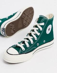 Зеленые высокие кроссовки Converse Chuck 70-Зеленый