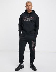 Черный спортивный костюм Nike Club