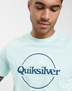 Голубая футболка Quiksilver-Синий