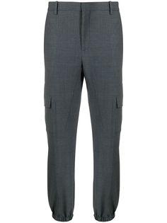 Neil Barrett зауженные брюки строгого кроя