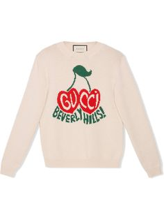 Gucci джемпер с логотипом вязки интарсия
