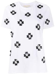 Michael Michael Kors декорированная футболка с круглым вырезом