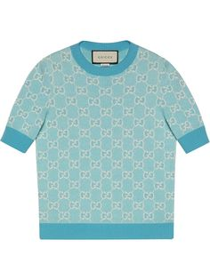 Gucci джемпер из ткани пике с короткими рукавами