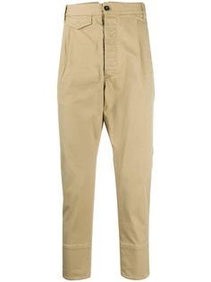 Dsquared2 укороченные брюки со складками