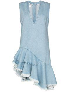 MarquesAlmeida джинсовое платье асимметричного кроя