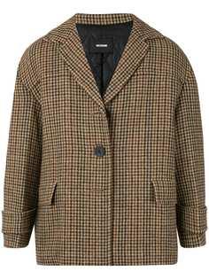 We11done укороченное пальто в ломаную клетку