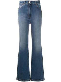 Versace расклешенные джинсы с эффектом потертости