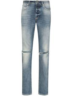 Givenchy джинсы прямого кроя с эффектом потертости