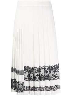 Ermanno Scervino юбка с кружевом и складками