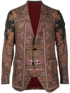 Etro пиджак с принтом пейсли