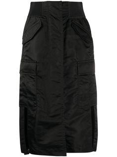 Sacai юбка прямого кроя с завышенной талией