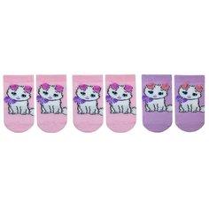 Носки НАШЕ комплект 3 пары размер 18 (16-18), розовая дымка/фуксия