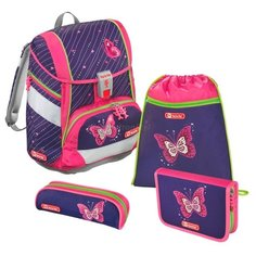 Step By Step Ранец 2in1 Shiny Butterfly 4 предмета (138955), фиолетовый/розовый