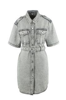 Джинсовое платье-рубашка на болтах Miss Sixty