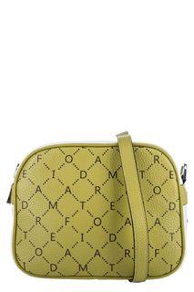 Маленькая кожаная сумка с монограммой бренда Fiato Dream