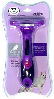 Расческа-триммер PerseiLine для длинношерстных кошек с очистителем L 6,5 см