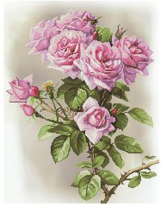 """Набор для вышивания крестом на канве с рисунком Нова Слобода """"Розовая соната"""", 28,4x37 см,"""