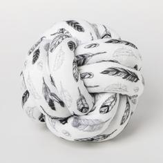 Подушка-узел «Пёрышки», 19 × 19 см Арт Узор