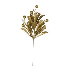 Елочное украшение Marko Ferenzo Classic gold Веточка Цветок лилии 1 шт 10x16 см