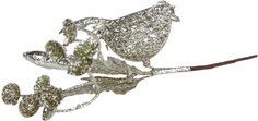 "Елочное украшение Marko Ferenzo ""Classic silver. Веточка. Цветок"" (цвет: серебро, 18х9 см)"