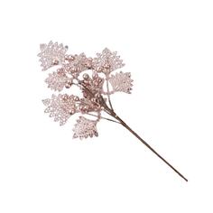Елочное украшение Marko Ferenzo Caramel Веточка Листья с ягодами с глиттером 1 шт 55 см