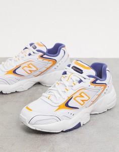 Бело-желтые кроссовки New Balance 452-Белый