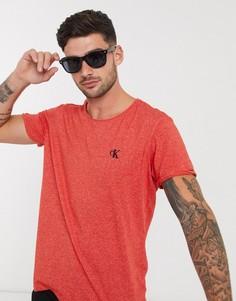 Футболка с необработанным краем Calvin Klein Jeans-Красный