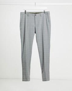 Серые зауженные брюки в клетку Esprit-Серый