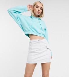 Белая юбка со светоотражающей отделкойReebok эксклюзивно дляASOS-Фиолетовый