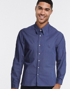 Темно-синяя рубашка в горошек с длинными рукавами Lacoste-Темно-синий