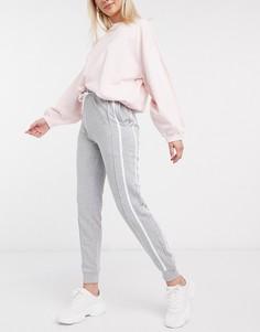 Серые джоггеры с полосками по бокам New Look-Серый